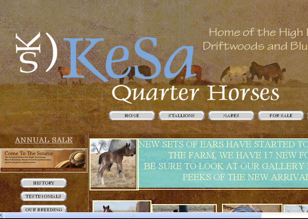 http://www.kesaquarterhorses.com