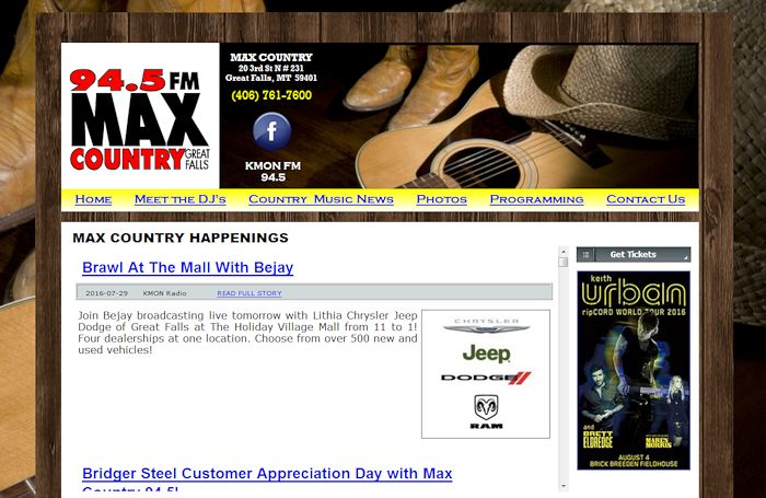 KMON FM Max Country 94.5