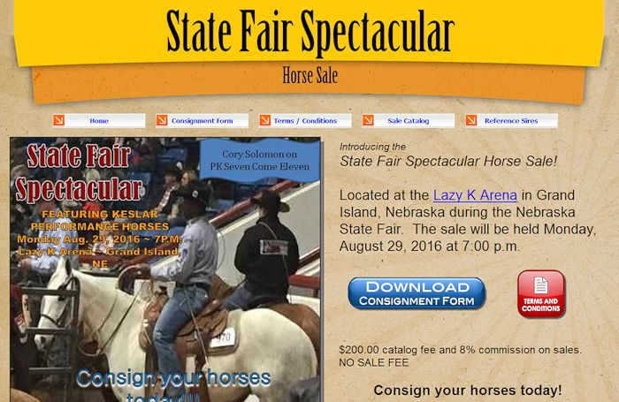 http://statefairhorsesale.com