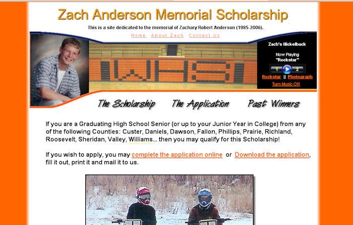 Zach Anderson Memorial Scholarship